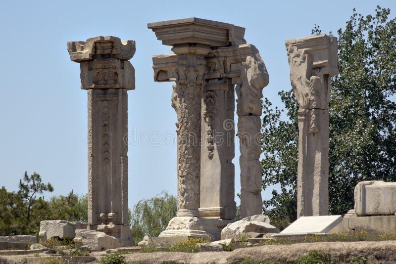 Ancient Ruins Summer Palace Yuanming Yuan Beijing stock images