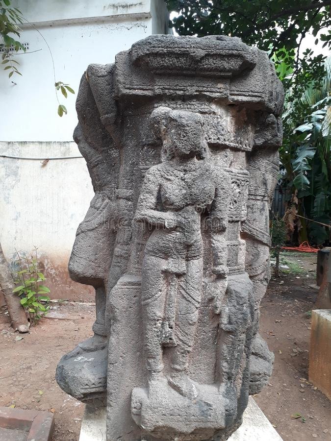 Ancient ruins of sundari statue. In rajahmundry stock photography