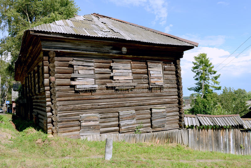 Ancient Russian Wood House Stock Photos