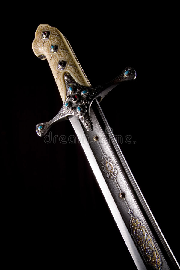 Ancient sabre. A smart variant of the fighting weapon royalty free stock images