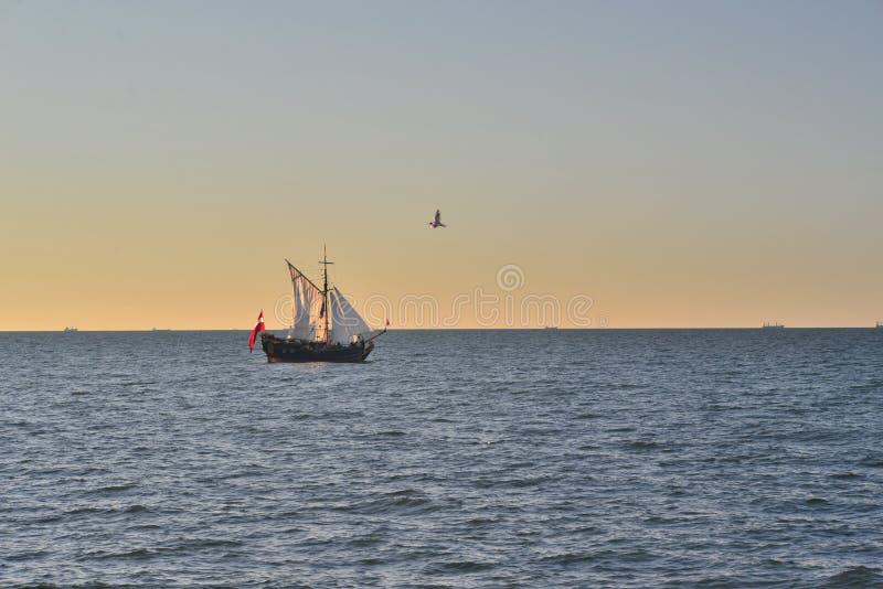 Download Ancient Sail Ship At Sea Stock Image Of Northern