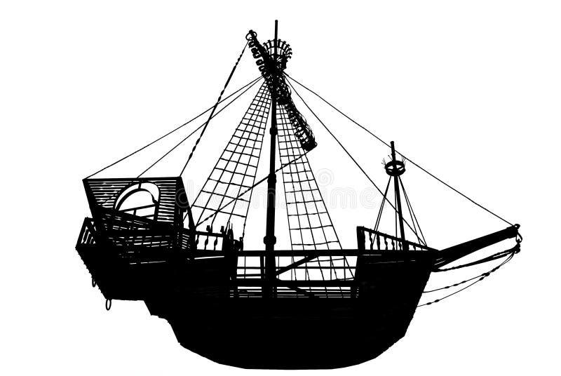 Download Ancient sailing ship stock illustration. Image of decor - 7095471