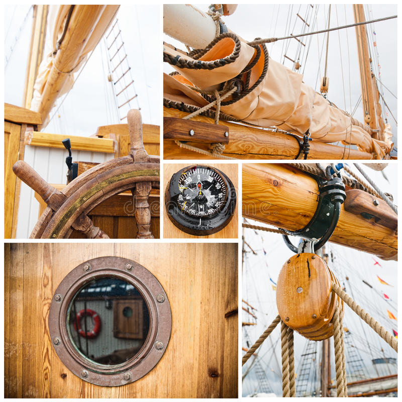 Free Ancient Sailing Vessel Collage Stock Image - 27856611