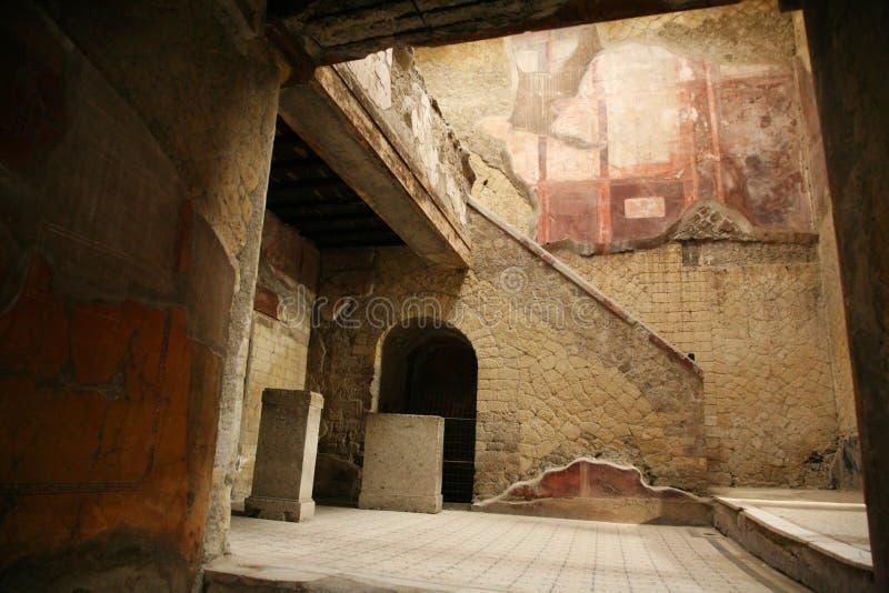 Ancient school herculanum royalty free stock photos