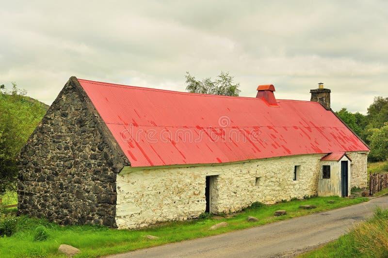 Ancient Scottish longhouse, Killin royalty free stock photos