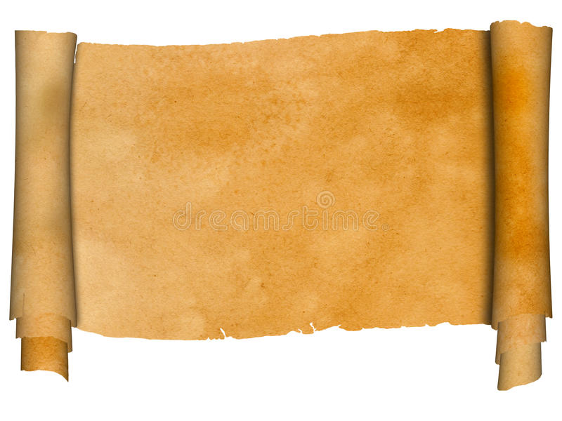 Ancient scroll. stock image