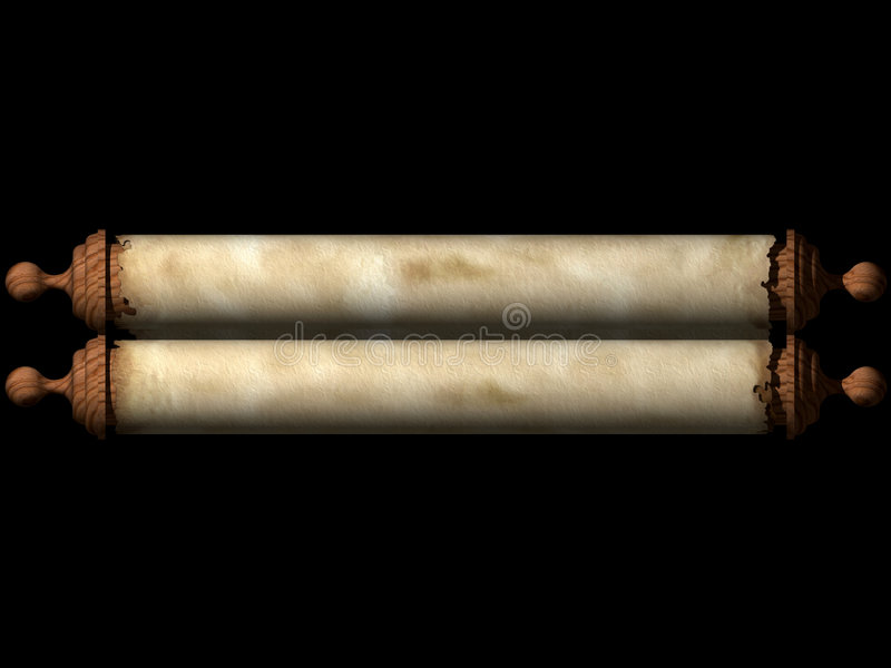 Ancient Scroll stock image