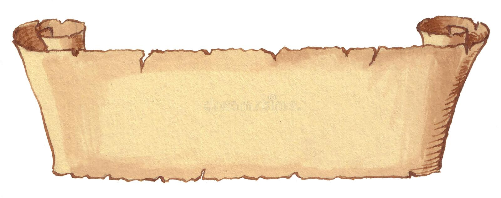 Ancient scroll stock illustration