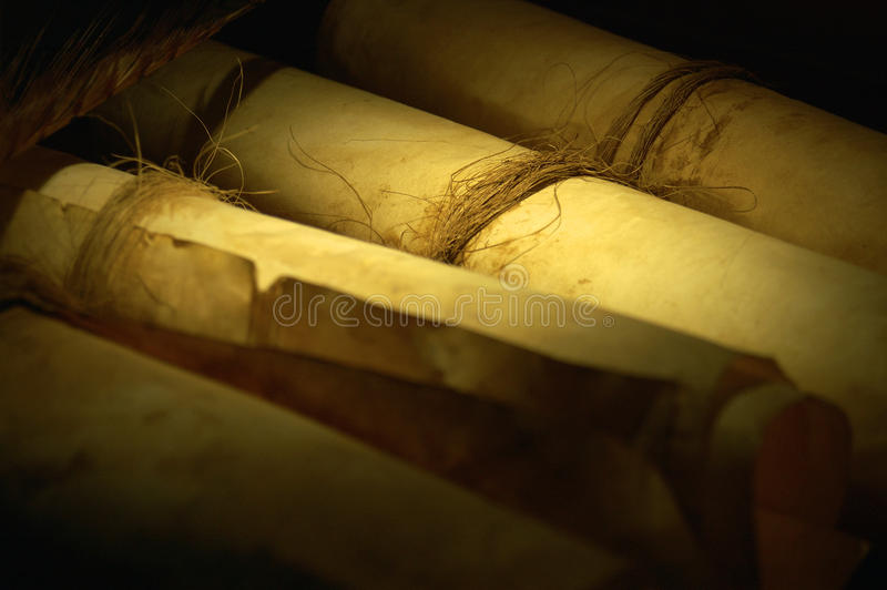 Ancient scroll parchment royalty free stock images