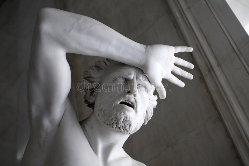 Ancient sculpture royalty free stock photography