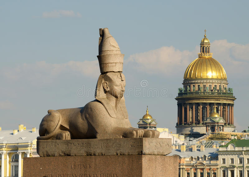 Ancient sculpture of the Sphinx. stock photos