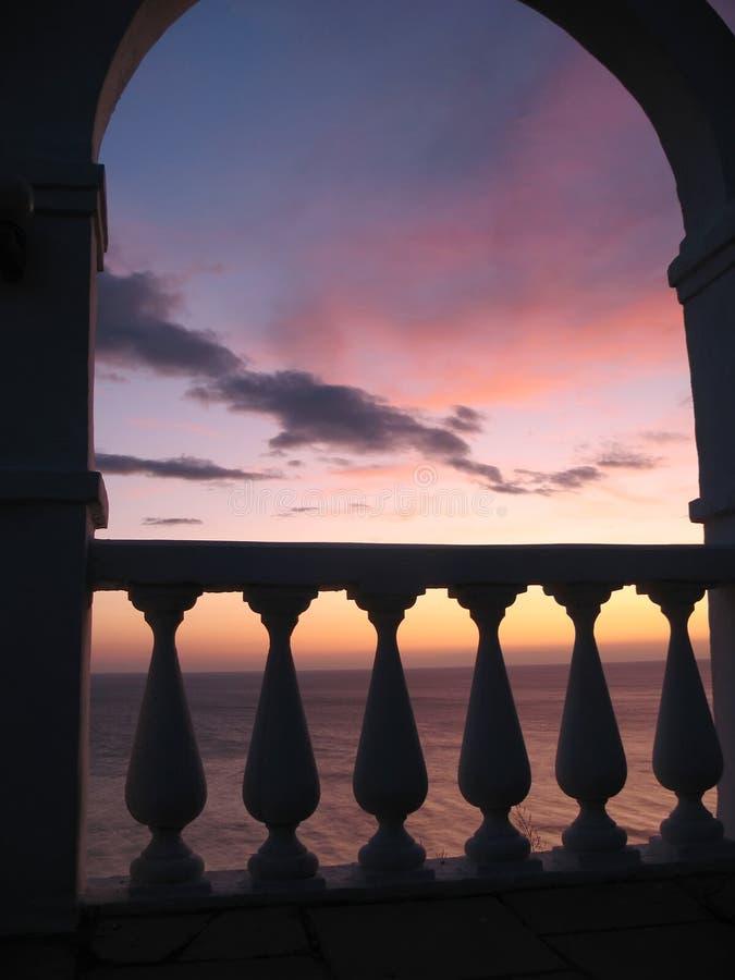 Ancient sea sunset stock image