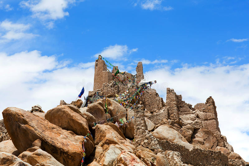 Ancient Shey Palace in Leh, Jammu and Kashmir, India royalty free stock image