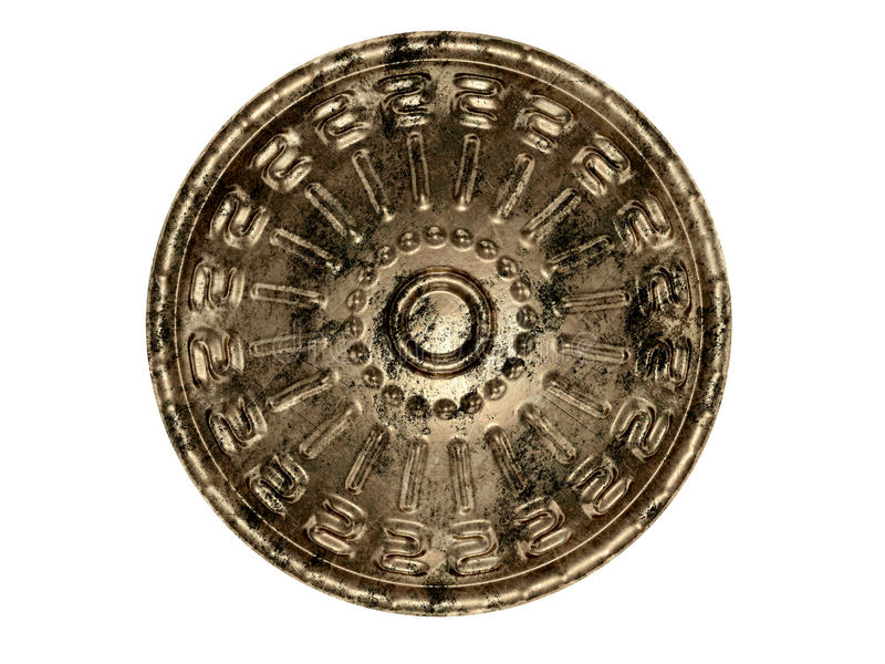 Ancient shield royalty free stock photography