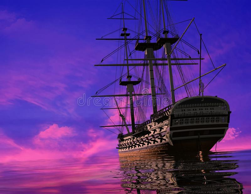 Download The Ancient Ship Royalty Free Stock Images - Image: 10387089