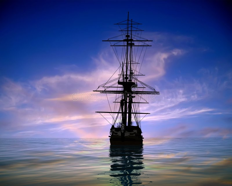 The Ancient Ship Royalty Free Stock Photography