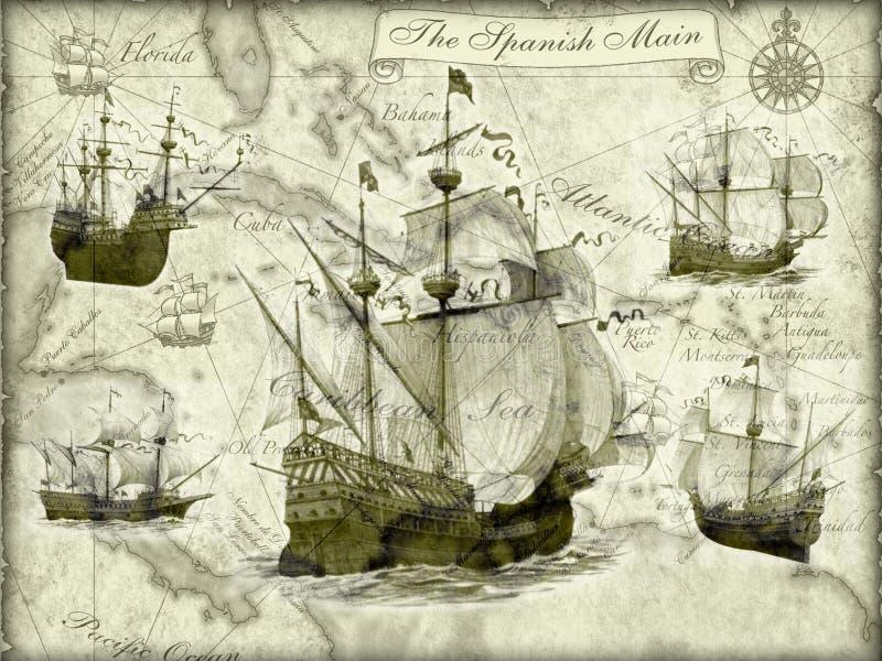 Download Ancient ships stock illustration. Image of desktop, maps - 13922044