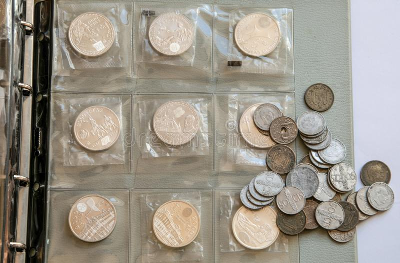 Ancient silver coins royalty free stock images