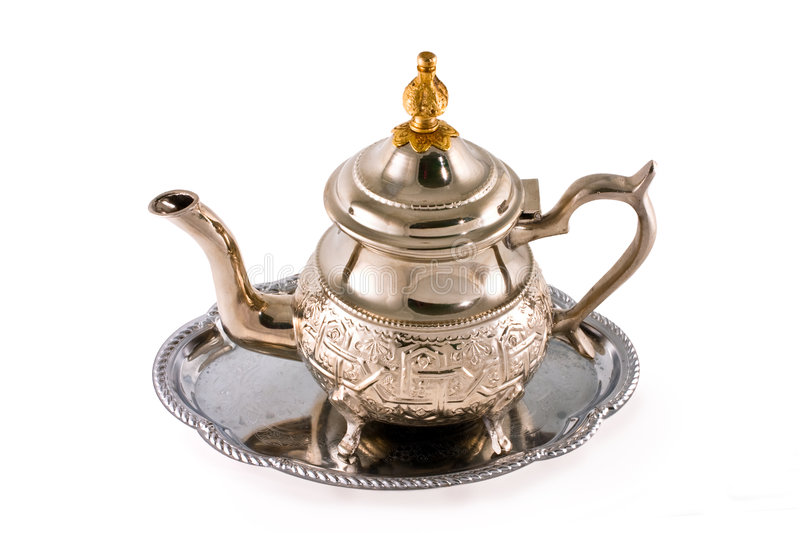 Download Ancient silver teapot stock image. Image of vessel, traditional - 4192345