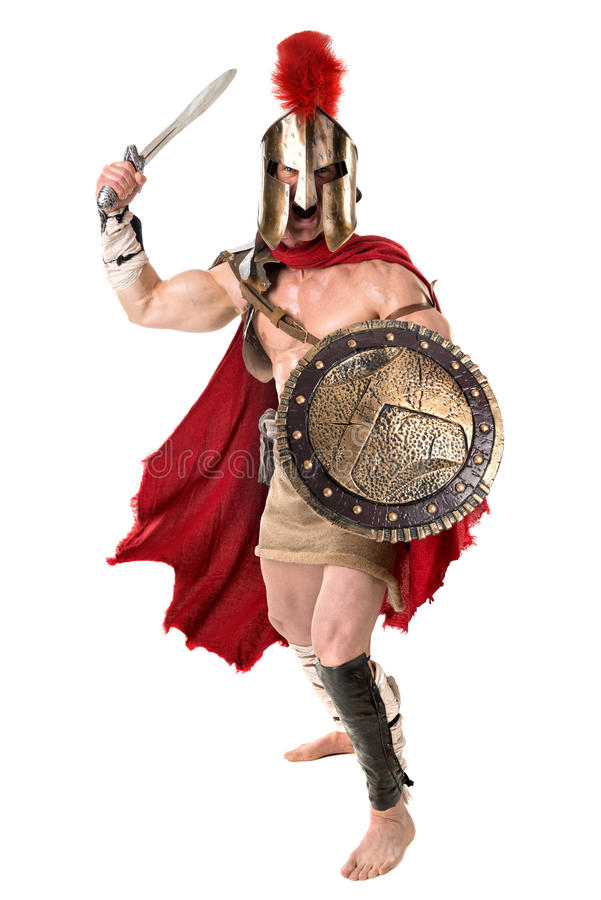 Ancient soldier or Gladiator royalty free stock image