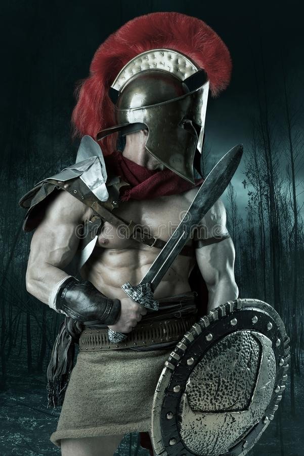Free Ancient Soldier Or Gladiator Stock Image - 105098541