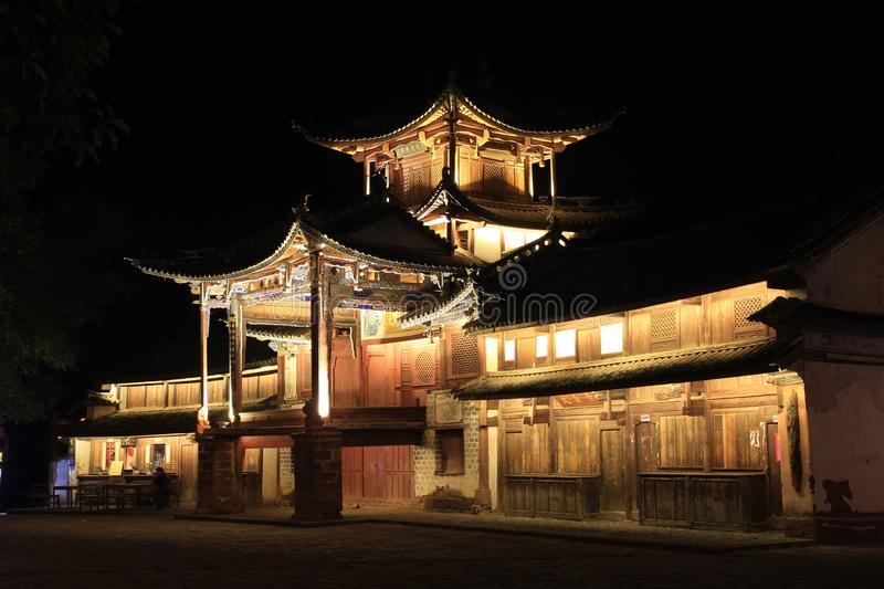 Download Ancient stage stock photo. Image of sidengjie, view, night - 27719544