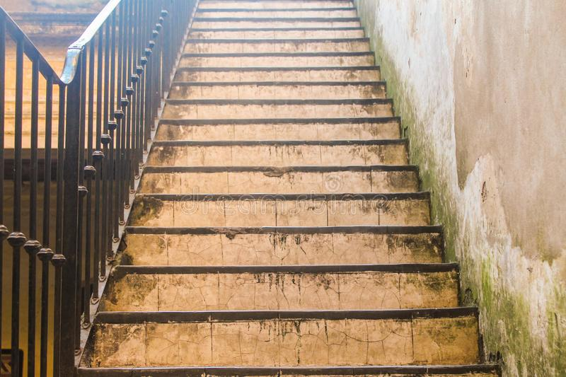 Ancient Stairs Background Outdoor Perspective royalty free stock photo
