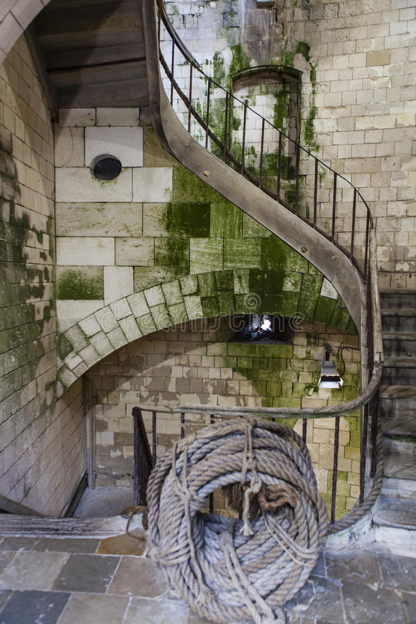 Free Ancient Stairs Inside An Old French Fortress - France Stock Images - 88772314