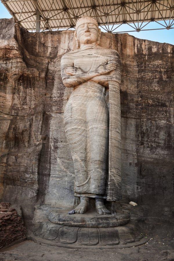 Free Ancient Standing Buddha Image Royalty Free Stock Image - 11822266