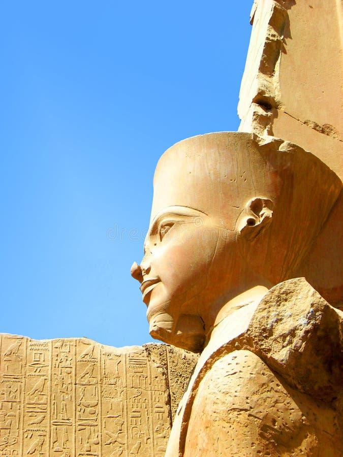 Ancient Statue at Karnak Temple. Face close up of ancient Statue at Karnak Temple, Luxor, Egypt royalty free stock photos