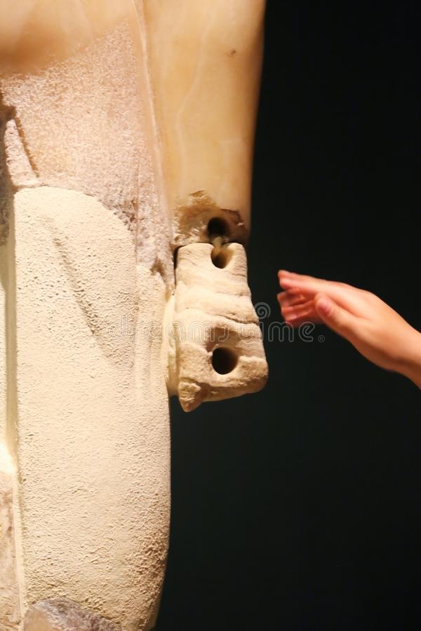 Ancient Statue at Luxor Museum - Egypt stock photos