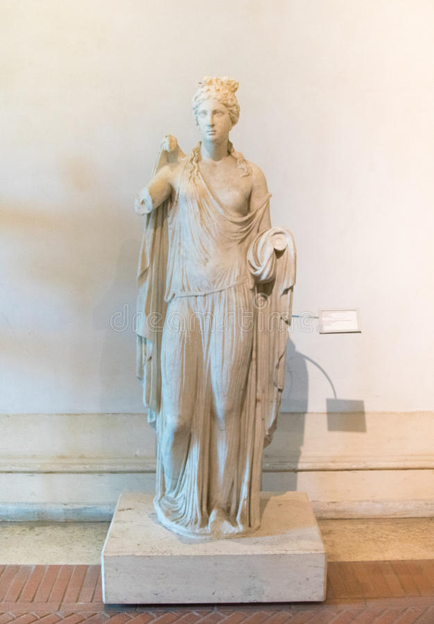 Ancient statue of Venus at baths of Diocletian in Rome, Italy royalty free stock photography