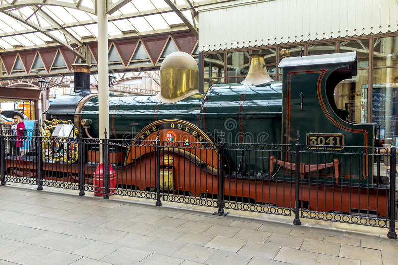 Ancient steam train in Windsor stock image