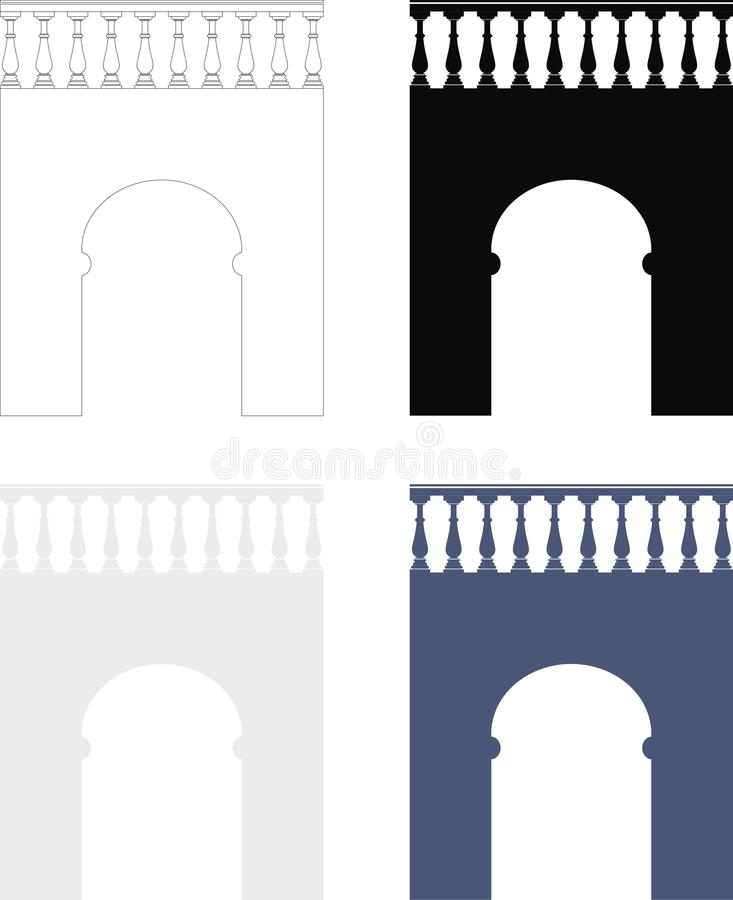 Download Ancient Stone Arch (bridge) With Balustrade Stock Vector - Image: 19604470