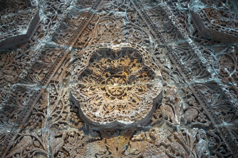 Ancient stone carving. Intricate stone carving from ancient Iraq royalty free stock photography
