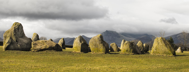 Ancient Stone Circle, United Kingdom royalty free stock image