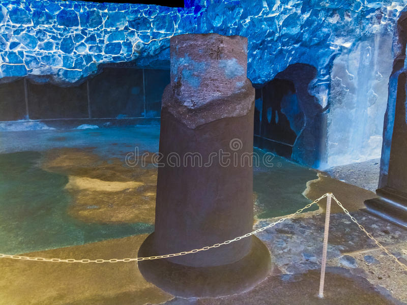 From Ancient stone column royalty free stock image