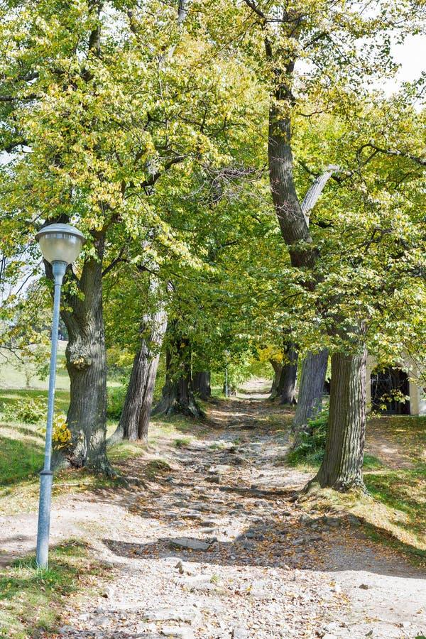 Road to Calvary in Banska Stiavnica, Slovakia. royalty free stock image
