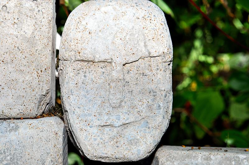 Ancient Stone Face Royalty Free Stock Images