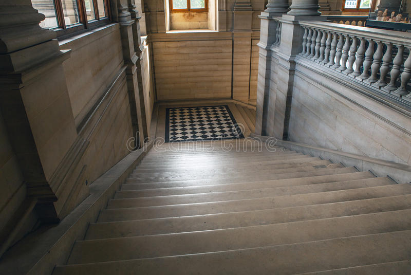 Ancient stone palace staircase photo.  stock photography