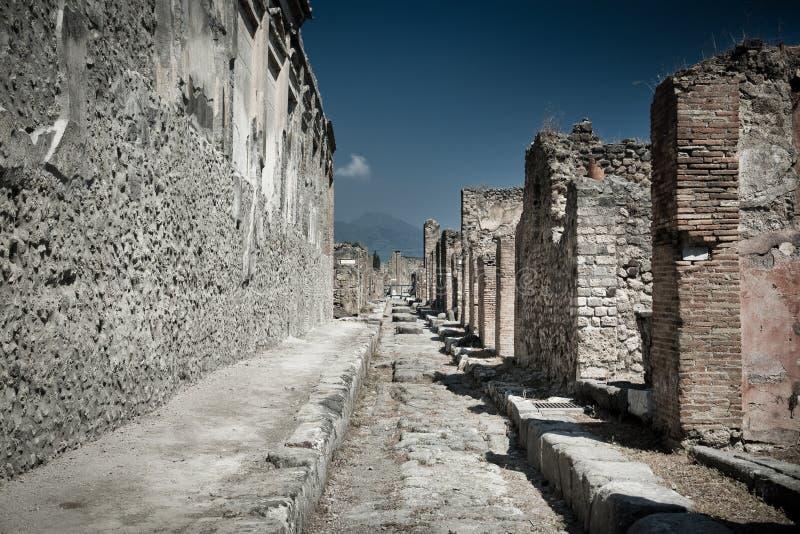 Ancient stone ruins in Pompeii Italy stock photos