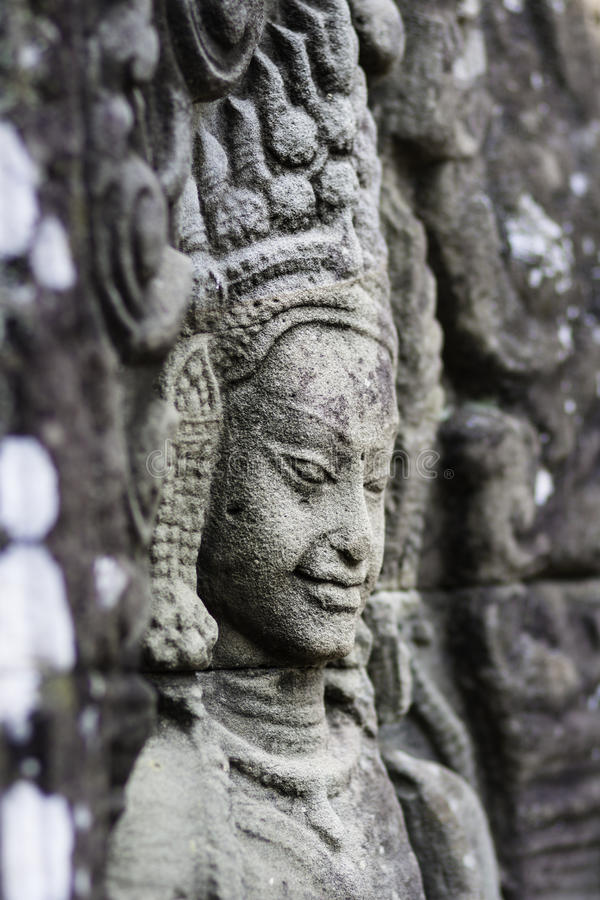 Download Ancient Stone Sculpture In Angkor Wat. Cambodia. Stock Images - Image: 24909754