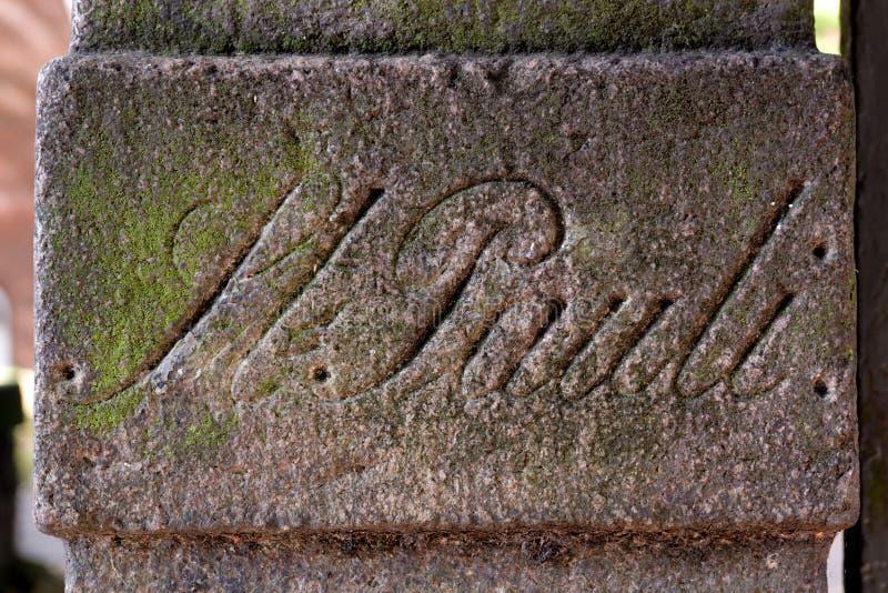 Download Ancient Stone Sign In St. Pauli, Hamburg, Germany Stock Photo - Image: 23350460