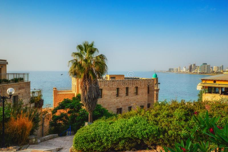 Tel Aviv, Israel, ancient stone streets in Arabic style in Old Jaffa stock photo