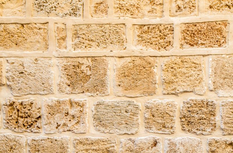 Ancient stone wall background stock photography
