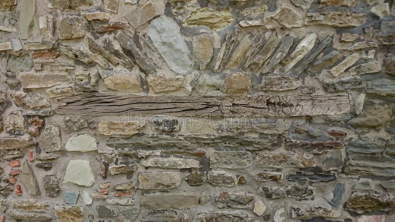 Ancient Stone Wall with Beem royalty free stock photo