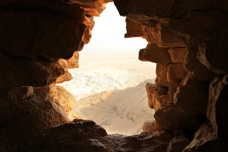 Ancient stone window royalty free stock images