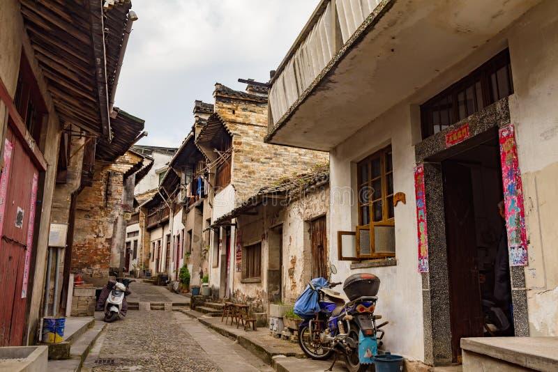 Ancient streets, Huizhou mountain town, Anhui, China royalty free stock photo