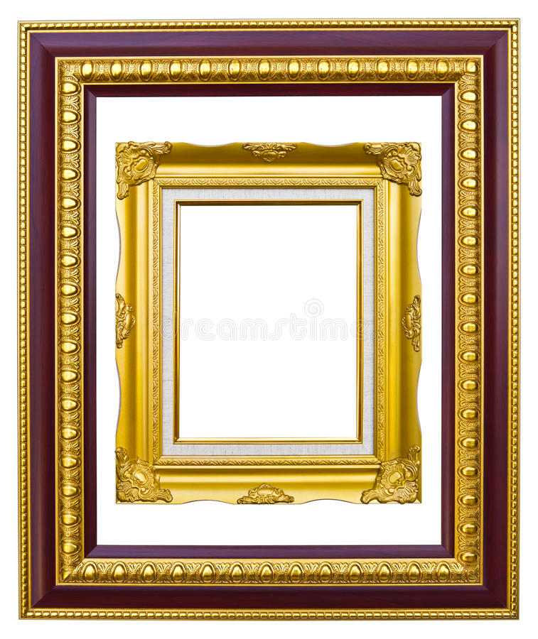 Download Ancient Style Golden Photo Image Frame Stock Photo - Image: 17194394