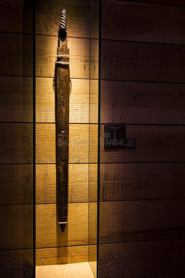 Ancient Sword from Vasa battleship stock photo